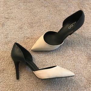 Black and White ALDO Heels